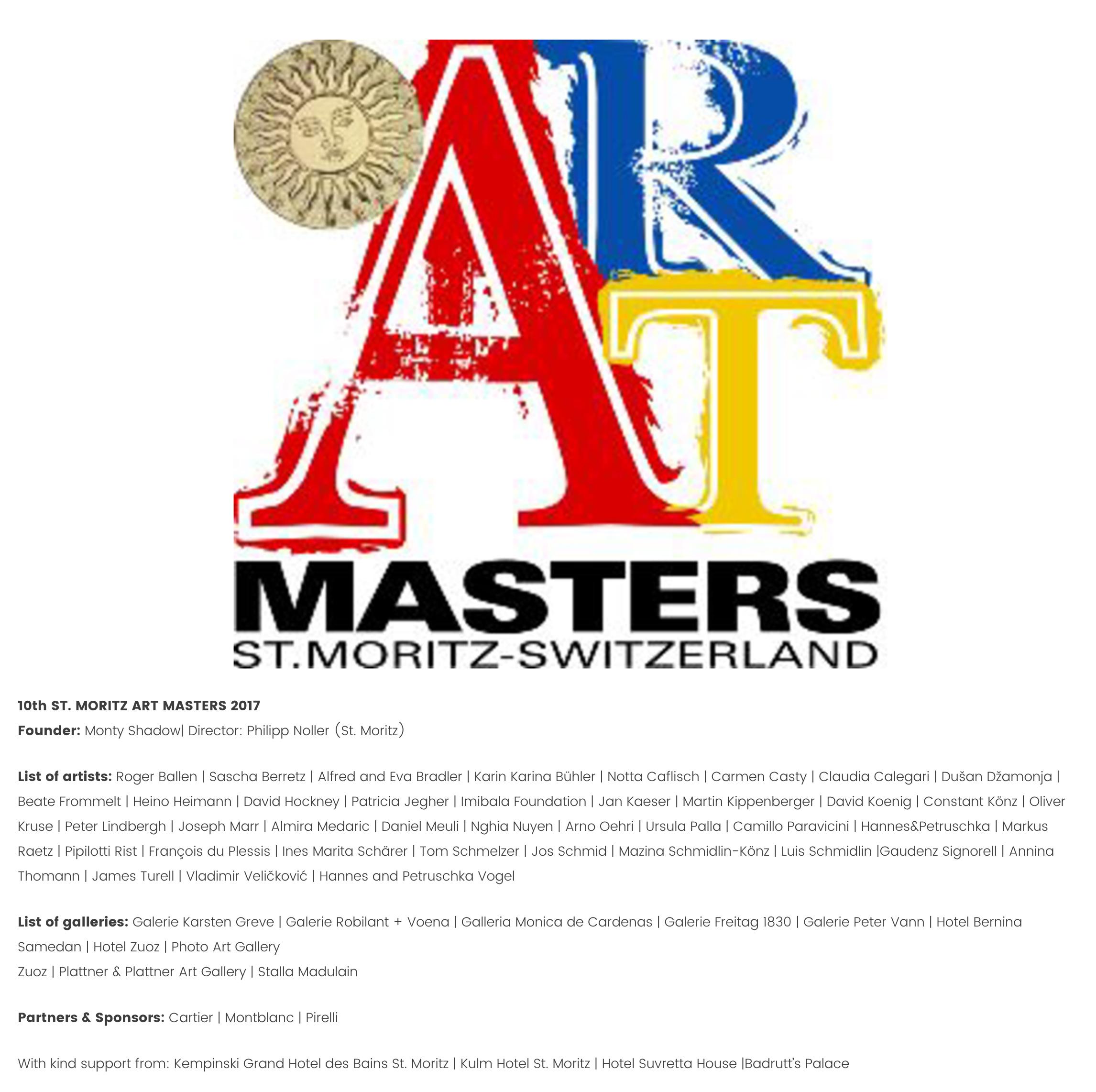 St Moritz Art Masters 2017